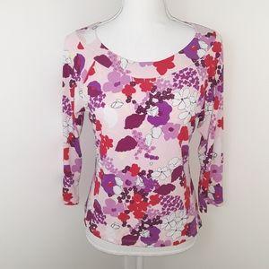 Xhilaration womens scoop neck 3/4 sleeve top size